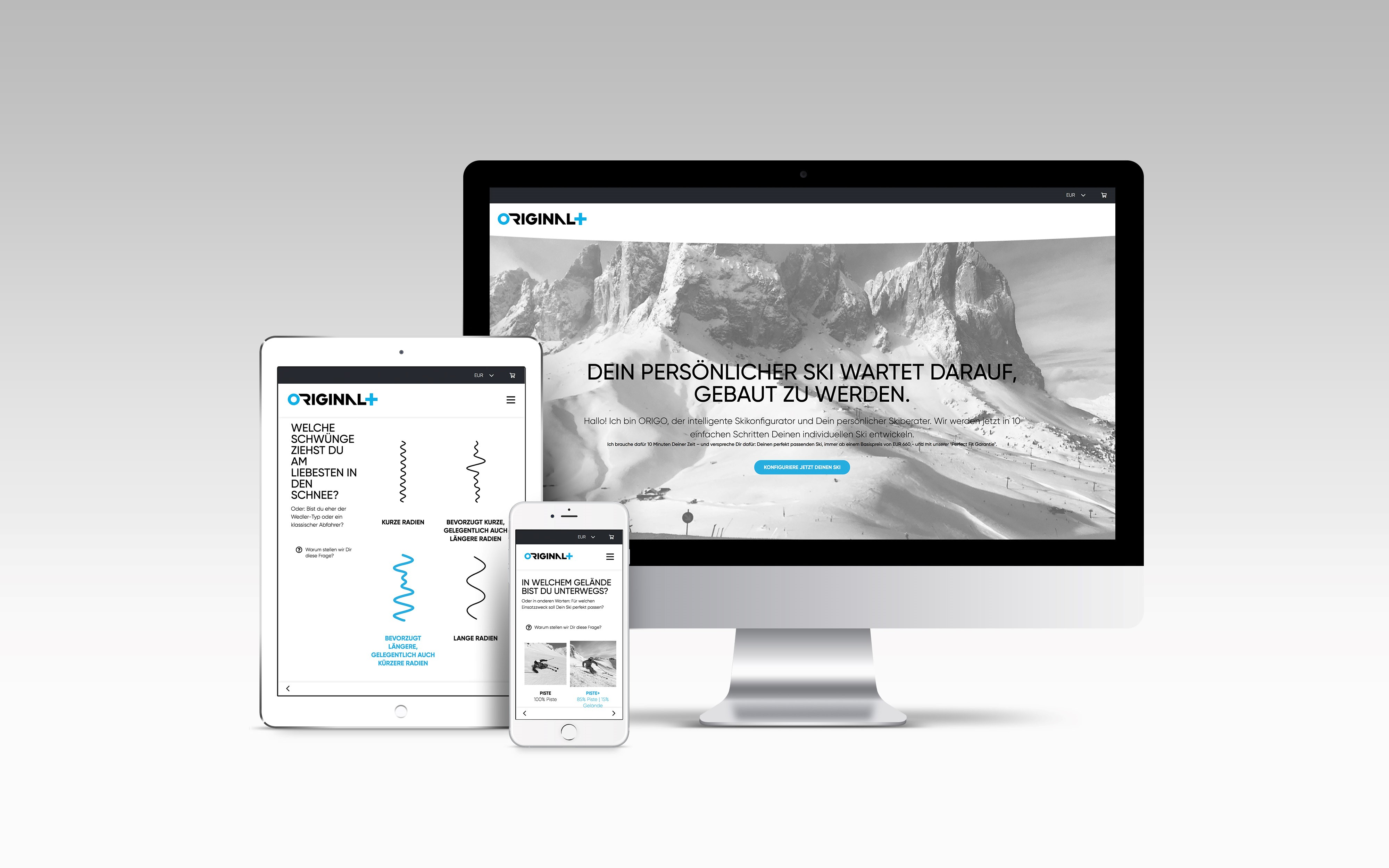 ORIGO, the digitale ski configurator at ORIGINAL+